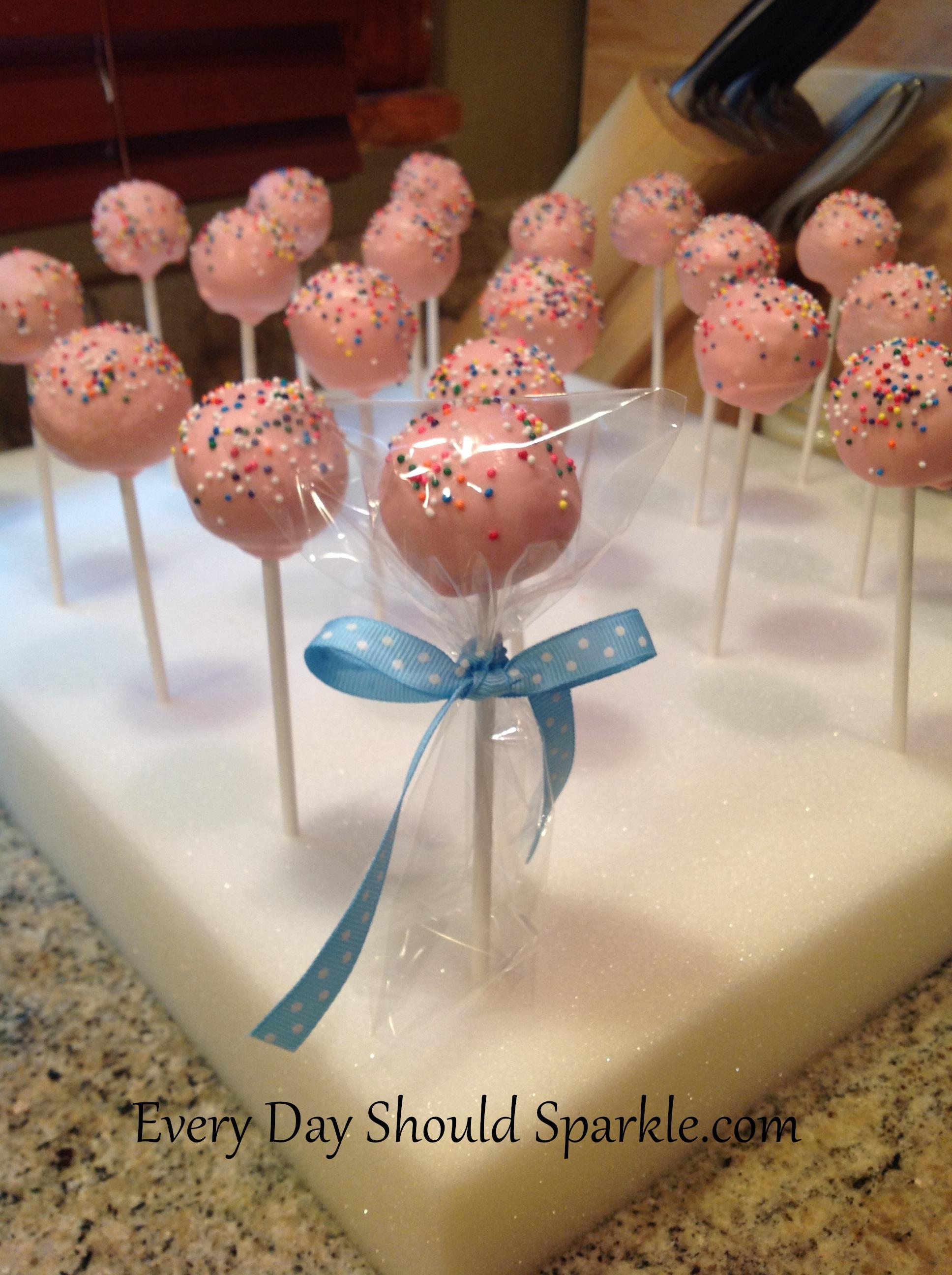 finished cake pops