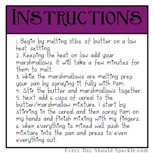 Rice Krispy Treats Instructions