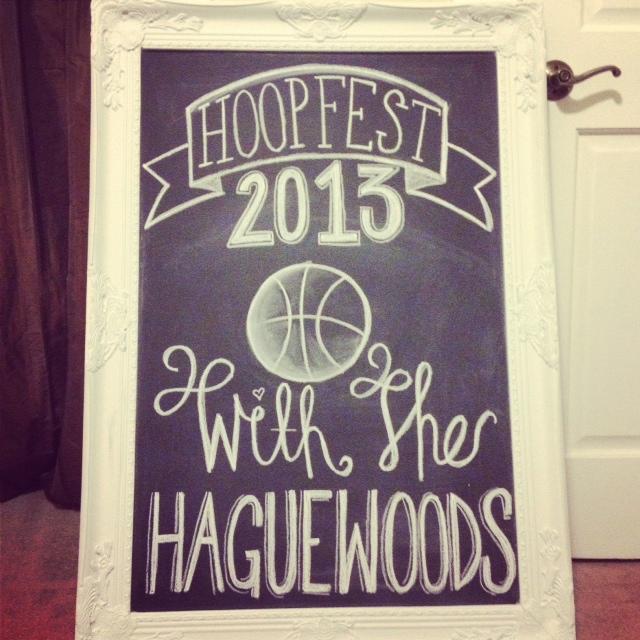 Hoopfest 2013 Chalkboard