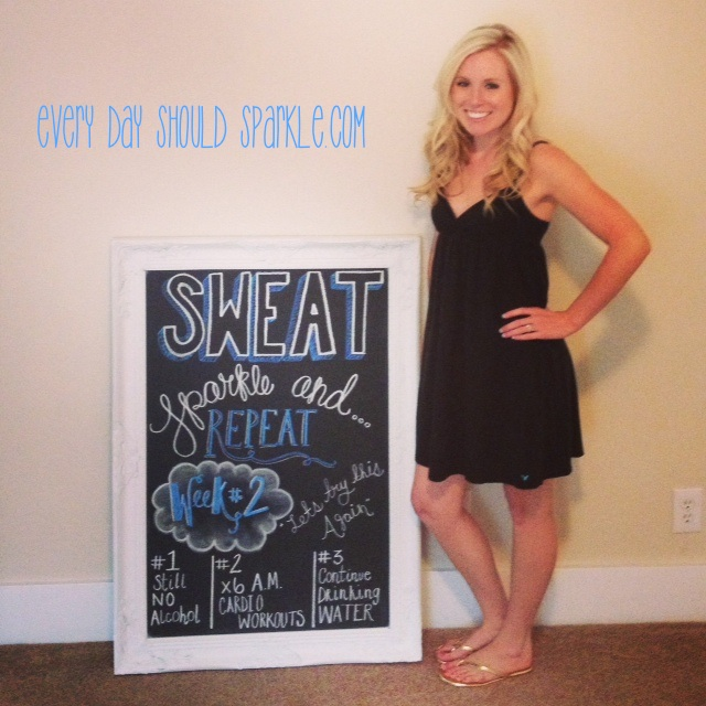 Sweat Sparkle Repeat - Week 2