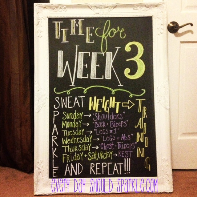 Sweat, Sparkle, Repeat - Week 3